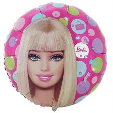 """Barbie Pattern - 9"""" Air Inflation Foil Balloon"""