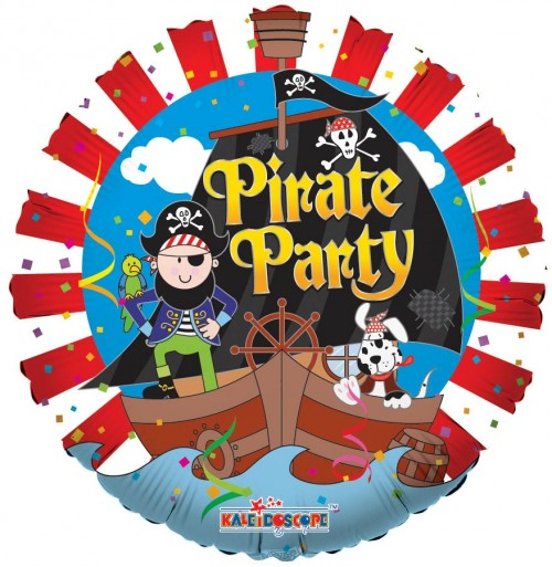 "Pirate Party - 18"" foil balloon"