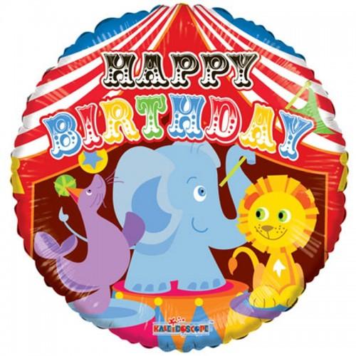 "Happy Birthday - Circus - 18"" foil balloon"