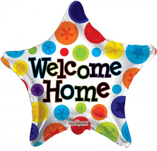 """Welcome Home Star - 18"""" foil balloon"""