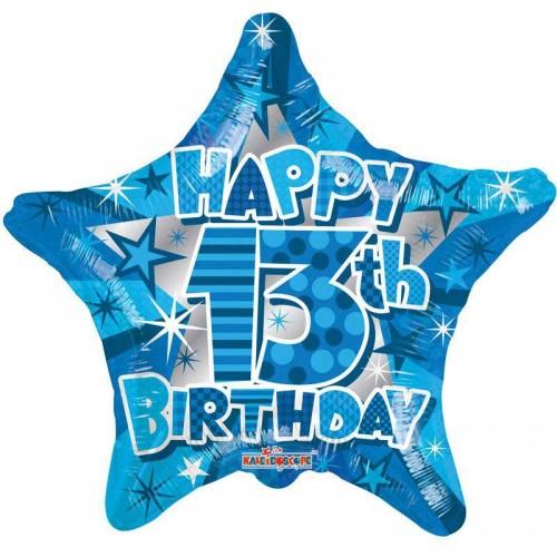 "Happy 13th Bithday - 18"" Foil Balloon"