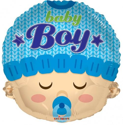 "Baby Boy Head Shape - 18"" foil balloon"