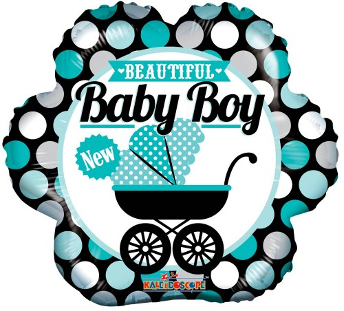 "Beautiful Baby Boy - 18"" foil balloon"