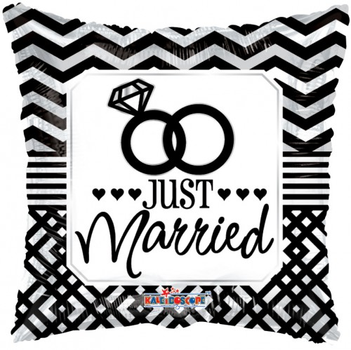 """Just Married - 18"""" foil balloon"""