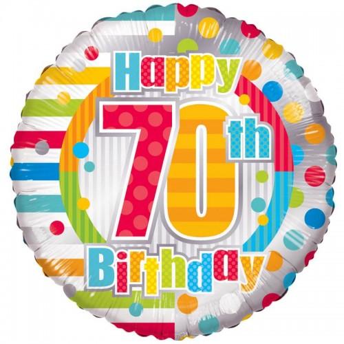 "Unisex Happy 70th Birthday - 18"" foil balloon"