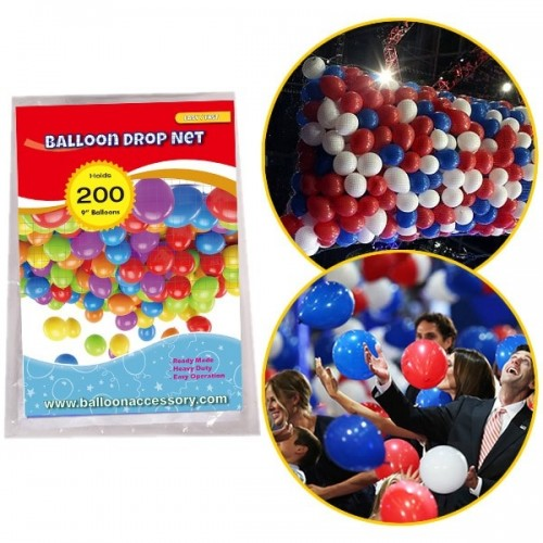 200 pce Balloon Drop Net