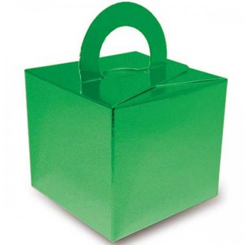 Metallic Green Balloon Weight / Gift Box 10CT