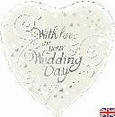 "With Love On Your Wedding Day - 18"" foil balloon"