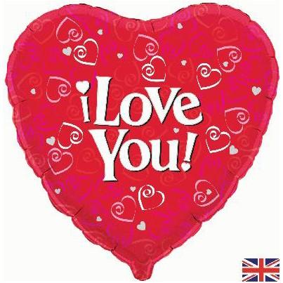 "I Love You Foil Balloon - 18"" foil balloon"