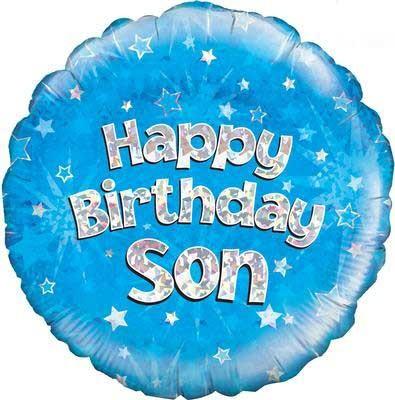 "Happy Birthday Son Holographic - 18"" Foil Balloon"