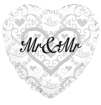 "Mr and Mr Wedding - 18"" foil balloon"