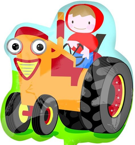Farm Tractor - Street Treat Shape - helium foil balloon