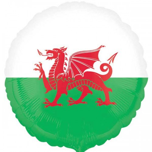 "Wales Flag - 18"" Foil Balloon"