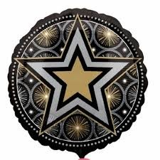 "Party Glitter Star - 18"" foil balloon"