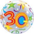 """Brilliant Stars 22"""" Single Bubble  - 30"""