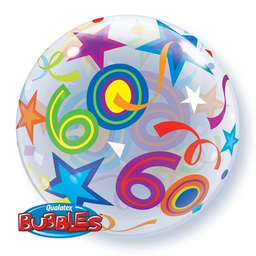 "Brilliant Stars 22"" Single Bubble - 60"