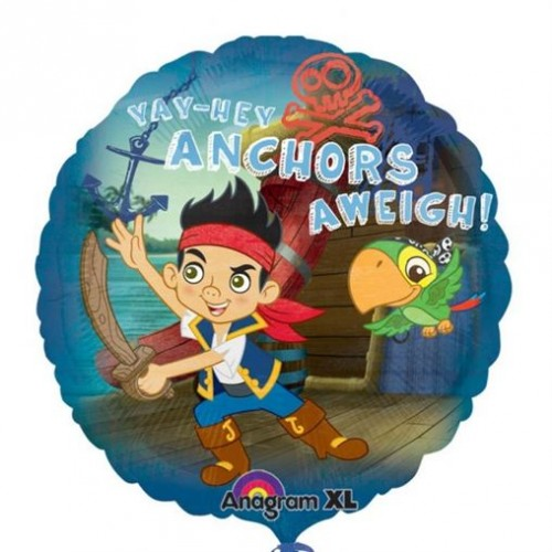 """Jake & The Neverland Pirates - Anchors Away - 18"""" foil balloon"""