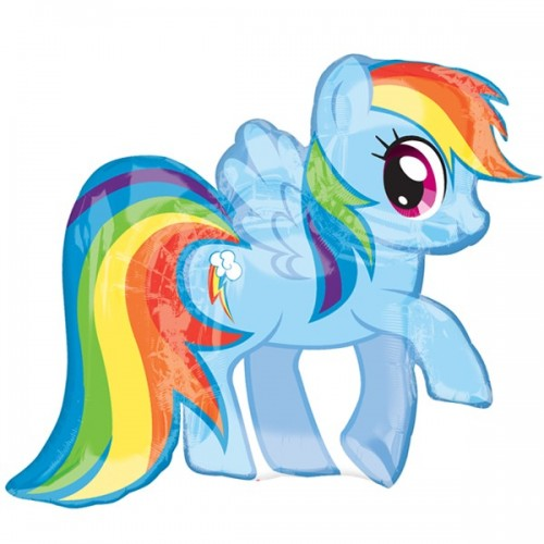 "My Little Pony Rainbow Dash Shape 28"" x 27"""
