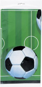 3-D Soccer Plastic Tablecover 54 x 84 inch