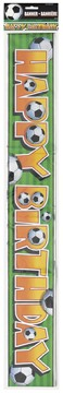 3-D Soccer Foil Birthday Banner 12ft