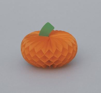 Pumpkin Mini Honeycomb Decorations 4ct