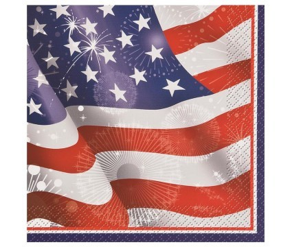 Old Glory Luncheon Napkins 20ct