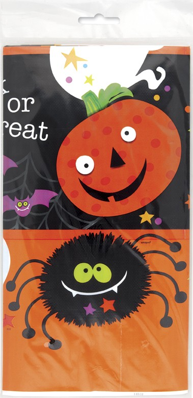 Spooky Smiles Plastic Tablecover