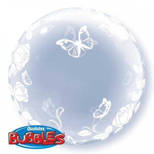 """Elegant Roses & Butterflies 24"""" Deco Bubble"""