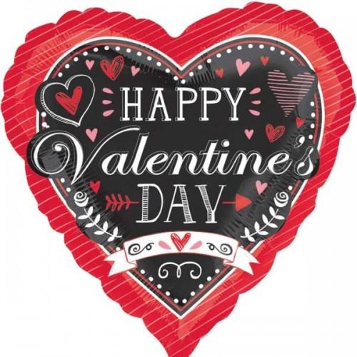"Chalkboard Valentine's Day 18"" Foil Balloon"