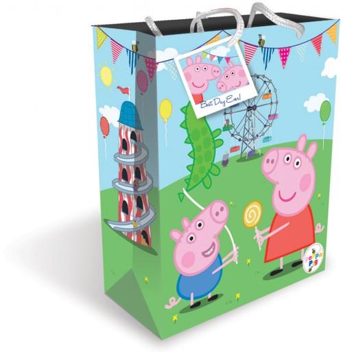 Gift BAG LARGE PEPPA (6 gift bags ,1.19 each )
