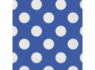 Royal Blue. Dots Luncheon Napkins 16 CT.