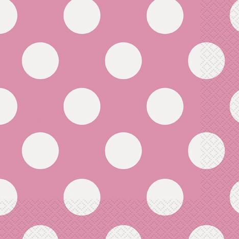 Hot Pink. Dots Napkins 16 CT.