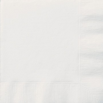 Bright White Luncheon Napkins - 12 PK
