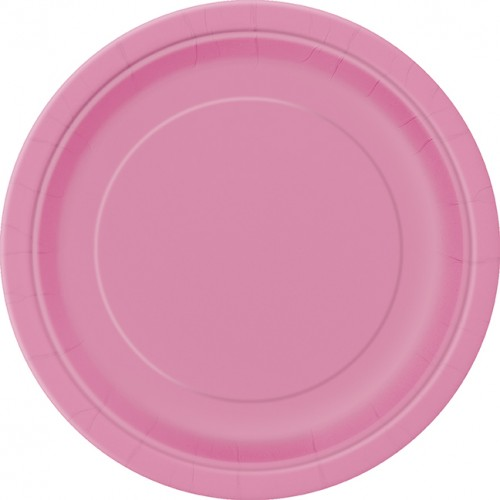 Hot Pink 9'' Round Plates 16 CT.