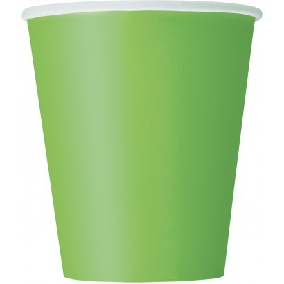 Lime Green 9oz cups 14 CT.