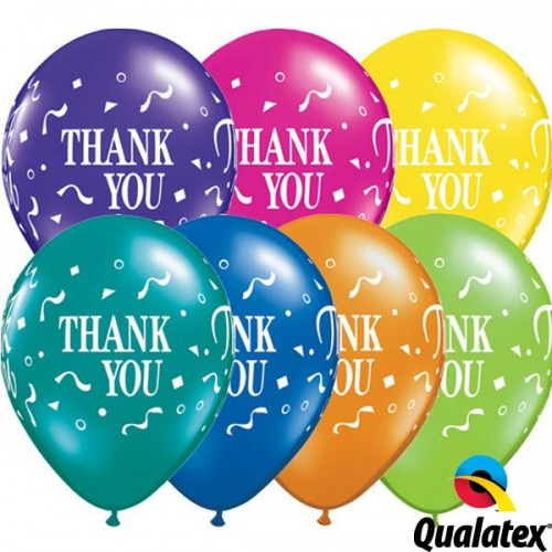"Thank You Confetti 11"" Fantasy Assorted (25CT)"