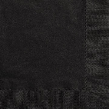 Midnight Black Luncheon Napkins 20 CT.