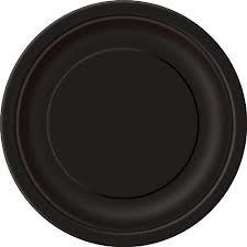 Midnight Black 9'' Round Plates 16 CT.