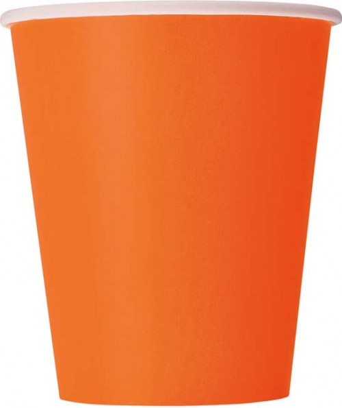 Pumpkin Orange 9oz. Cups 14 CT.