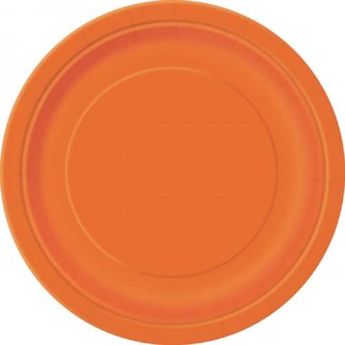 Pumpkin Orange 9'' Round Plates 16 CT.