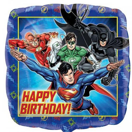"Justice League Happy Birthday - 18"" Foil Balloon"