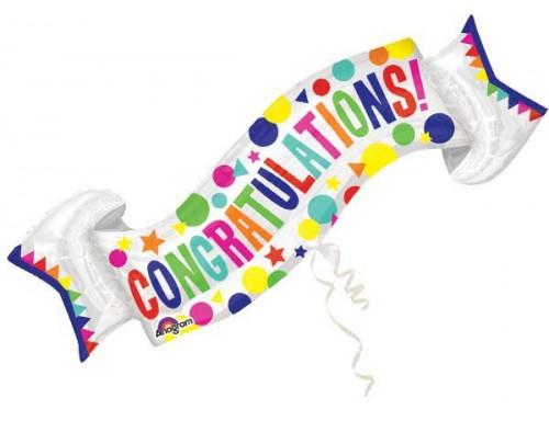 Congratulations Banner Shape 101cm x 48cm