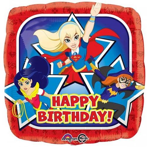 "Super Hero Girls Group Birthday 18"" Foil Balloon"