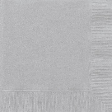 Silver Luncheon Napkins 20 CT.