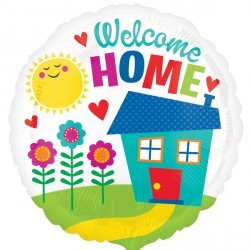 """Welcome Home - 18"""" foil balloon"""