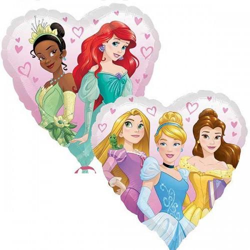 "Disney Princess Heart - 18"" Foil Balloon"