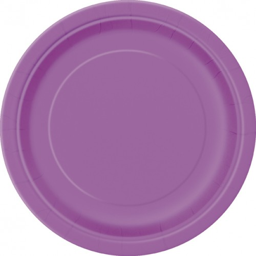 Pretty Purple 9'' Round Plates 16 CT.