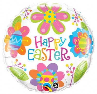 """Easter Colorful Blossoms 18"""" Foil Balloon"""
