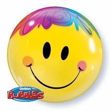 """Bright Smile Face 22"""" Single Bubble"""