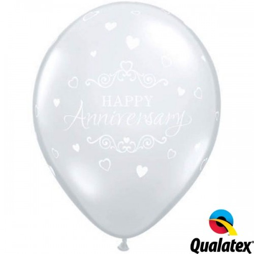 "Anniversary Classic Hearts 11"" Diamond Clear (25CT)"